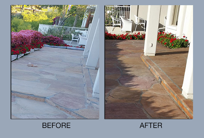 Flagstone Cleaning and Enhancing