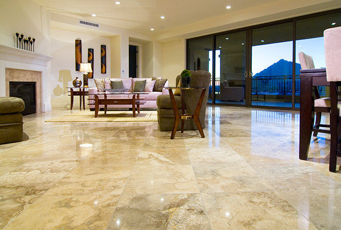 Natural Stone Living Room