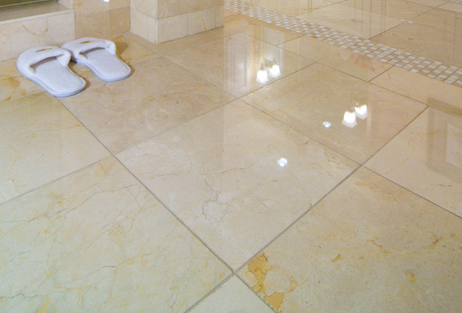 Polished Marble Bathroom