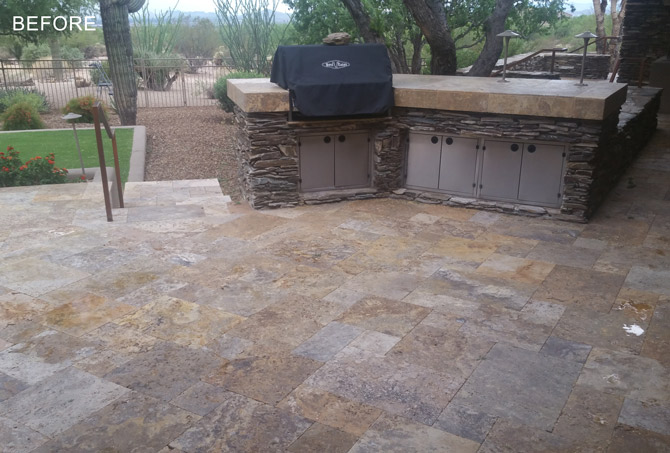 Dirty Exterior Travertine