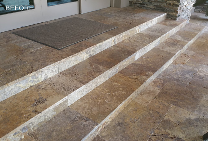 Dull Looking Travertine