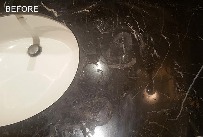 Etched Marble Vanity