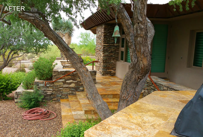 Exterior Travertine Restoration