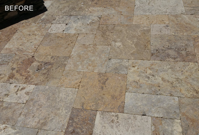 Travertine Patio Sealing