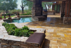 Travertine Pool Area