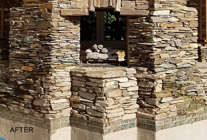 Stacked Stone Patio