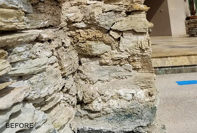 Stacked Stone Repair