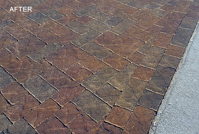 Cleaned Concrete Pavers