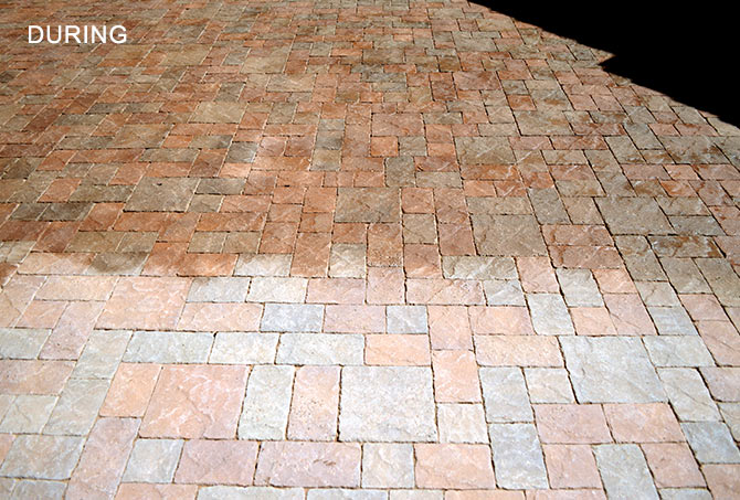 Concrete Pavers Sealing and Enhancing