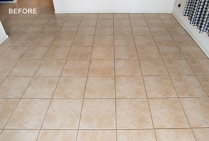 Tile Floor Before