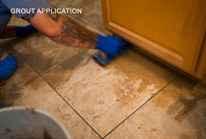 Tile Grout Application