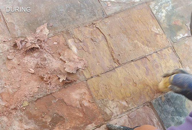 Exterior Slate Stripping