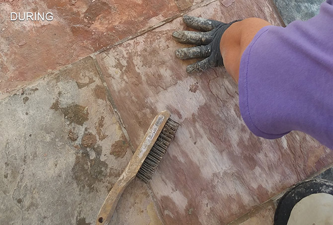 Slate Restored By Hand