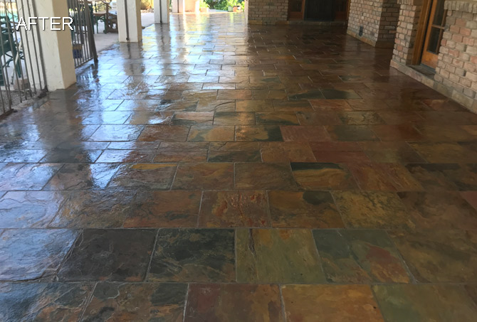 Tempe AZ Slate Floor Refinishing