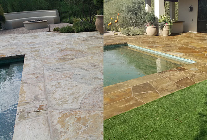 Flagstone Before and After