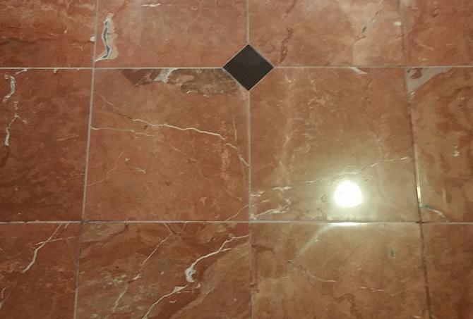 Granite Inlaid Floor Etch Removed