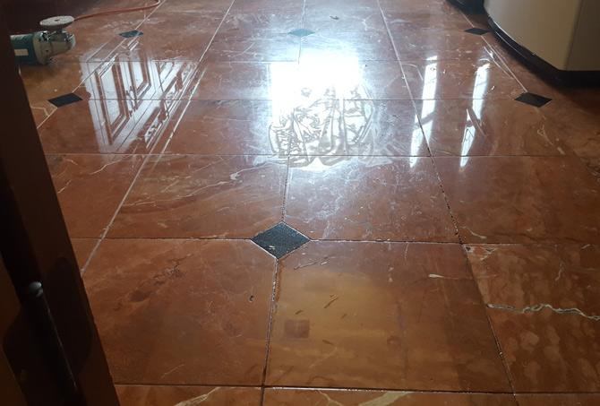 Granite Inlaid Floor Etch