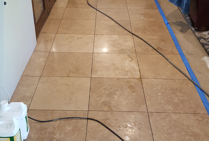 Before Travertine Restoration