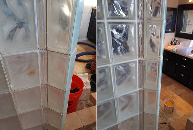 Shower Glass Restoration