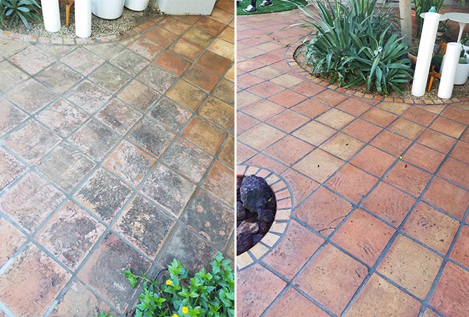 Saltillo Tile Before and After