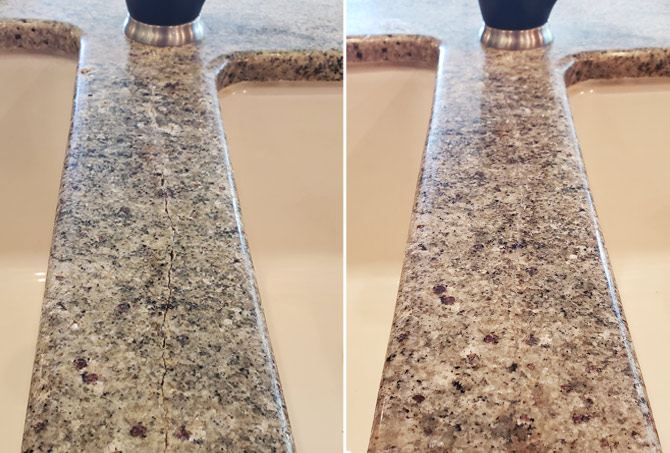 Granite Countertop Before and After