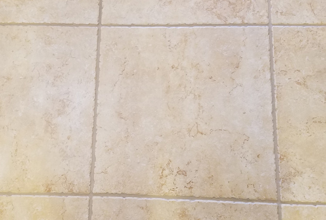 Grout Lines Cleaned and Color Sealed